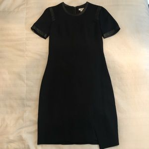 Little Black Dress with Leather detailing